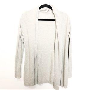 GapBody Gray Open Front Shawl Knit Cardigan